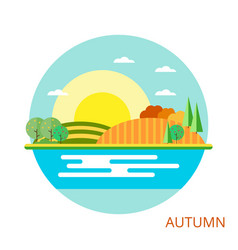 nature - autumn landscape vector image