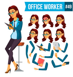 office worker woman secretary accountant vector image