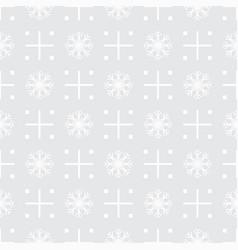 pattern seamless snowflake vector image
