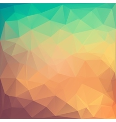 Poligonal of colored abstract vector image