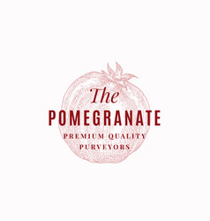 pomegranate purveyors abstract sign symbol vector image