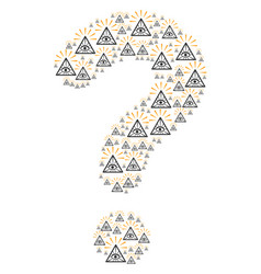Question mark mosaic of total control eye pyramid vector