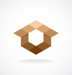 Real estate logo template Abstract rhombus concept vector image