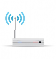 router wireless vector image vector image