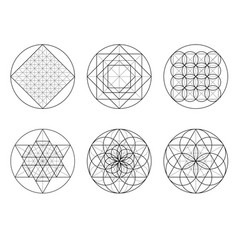 sacred geometry crossing lines vector image