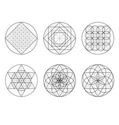 Sacred geometry crossing lines vector