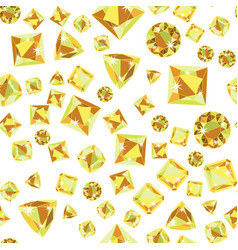 Seamless pattern with precious gem citrine vector