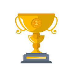 second place golden cup isolated icon vector image