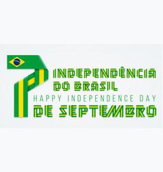 september 7 brazil independence day vector image