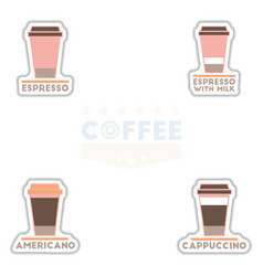 Sets of label frames and badges icons coffee vector