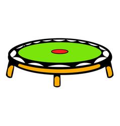 small fitness trampolin icon icon cartoon vector image