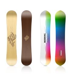 Snowboard design vector image