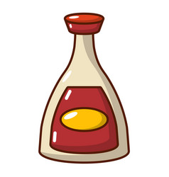 soy sauce icon cartoon style vector image vector image