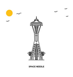 space needle monument world travel natural vector image