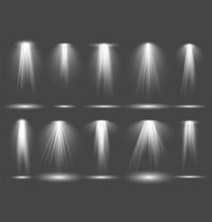 spot light set stage projection illumination vector image