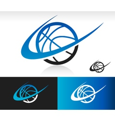 Swoosh Basketball Logo Icon vector