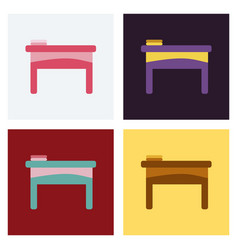 Table icon workplace and job office working vector