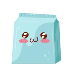 take away box cute kawaii food cartoon character vector image
