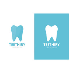 tooth logo combination dental symbol or vector image