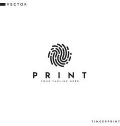 Unique fingerprint logo vector