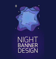 vertical banner with 3d layer a night vector image