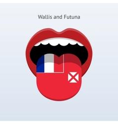 Wallis and futuna language abstract human tongue vector