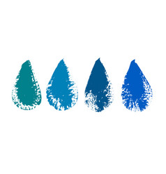 water drop grunge icons colored grunge icon set vector image