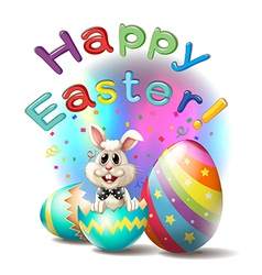 A happy easter poster vector image vector image