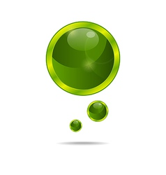 abstract eco green bubbles - vector image vector image