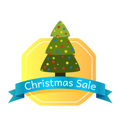 christmas sale abstract tree logo vector image vector image