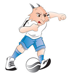 goat mascot playing with ball vector image