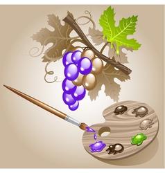 grape paint brush vector image vector image