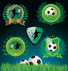 soccer emblems vector image vector image