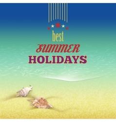 Summer holidays retro style background vector