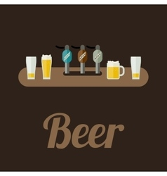 Bar counter with beer vector image