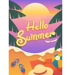 hello summer vector image