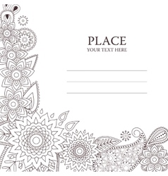 Invitation card with paisley pattern vector image