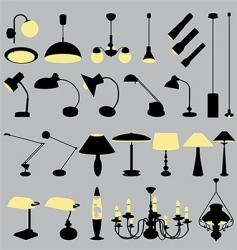 lamps collection vector image vector image