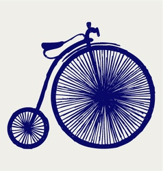 Penny farthing vector image vector image
