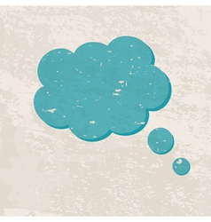 retro background with a cloud vector image