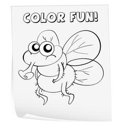 Coloring worksheet vector image vector image