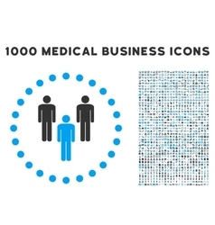Community Icon with 1000 Medical Business Symbols vector image