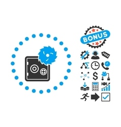 Hacking Theft Flat Icon with Bonus vector image vector image