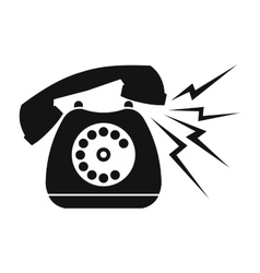 Ringing blue stationary phone vector image vector image