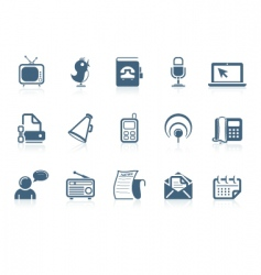 social and communication icons vector image vector image