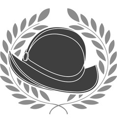stencil of conquista helmet second variant vector image