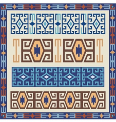 traditional geometric design elements vector image