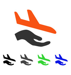 Aviation support flat icon vector