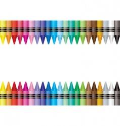 border crayon vector image vector image