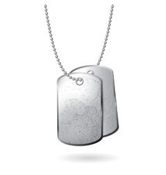 dog tag on white background vector image vector image
